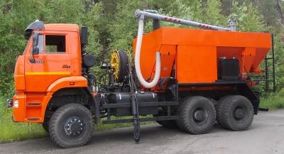 Смесительно-зарядная машина МЗ-3Б-01-Э на базе КАМАЗ